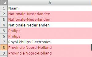 Adressen in Excel