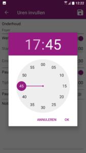 Uurwerk Online app tijd wijzigen