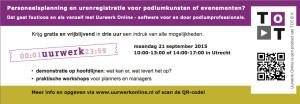 Uurwerk Online kennismakingsdag 21 september 2015